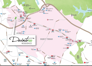 DAINTREE Residence map